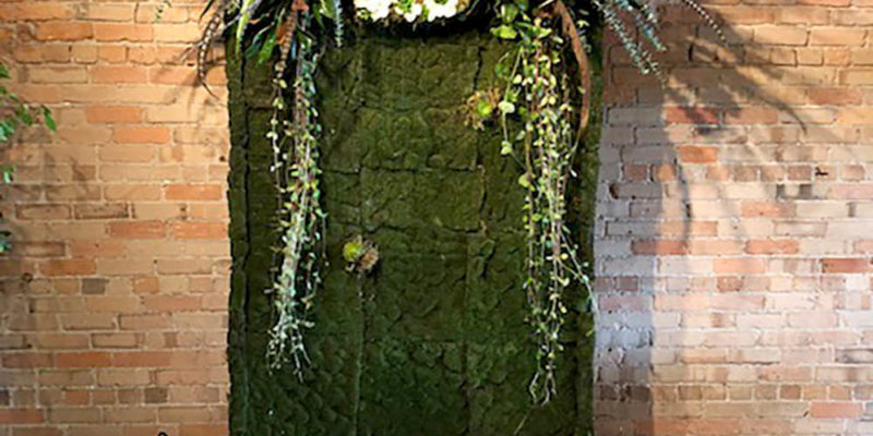 Unique Backdrop Moss Panel for Birthday Party
