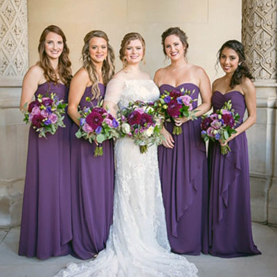 Grove Park Inn Wedding Event in Purple