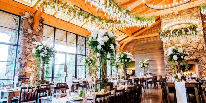 High end Reception at the Pavillion Omni Grove Park
