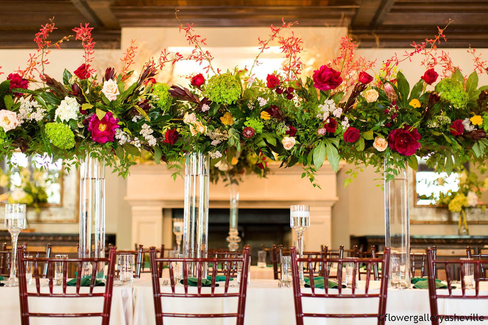 Wedding Event in Asheville with Flowers from FGA
